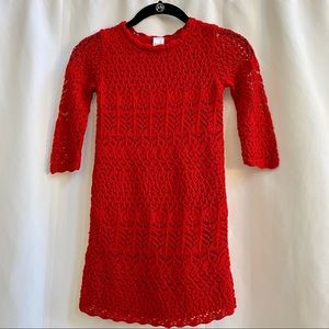 Red KIDS Crotchet Dress